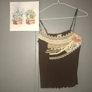 Free people lace cami | size small 💕